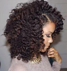 Penteados para cabelos crespos e cacheados: preso lateral