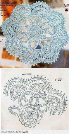 Super Crochet Patrones Carpetas Redondas 28+ Ideas #crochet