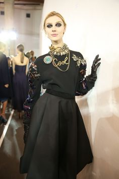 Backstage at Lanvin RTW Fall 2013