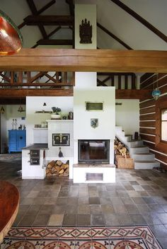 Trendy Home Renovation Fireplace Woods Ideas Stair Shelves, Earth Bag Homes, Kitchen Stove, Home Office Space, Cottage Interiors, Trendy Home, Design Case, Bars For Home, Home Renovation