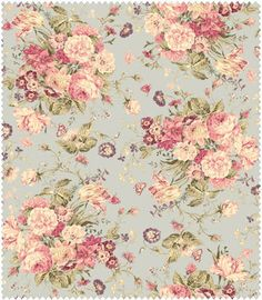 Mary Rose Grace Fabric Collection by Quilt Gate MR2140-11C Light Blue  Bouquet  Roses