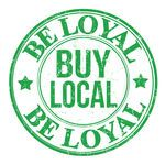 Be loyal buy local grunge rubber stamp on white, vector illustration - stock vector Buy Local, Shop Local, Shop Window Displays, Store Displays, Organic Market, Home Based Business Opportunities, Cool Store, Support Local Business, Ethical Shopping