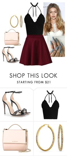 """Untitled #349"" by fatyhnrqz94 ❤ liked on Polyvore featuring Gucci, RED Valentino, Bershka, Givenchy and Bling Jewelry"