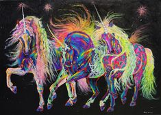 Friday night techno unicorns