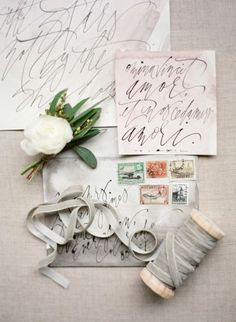 Gorgeous watercolor and calligraphy