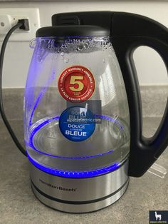 share pictures for a glass kettle with blue LED inside it. Hamilton Beach, Kettle, Cool Things To Buy, Light Blue, Lighting, Glass, Pictures, Ideas, Cool Stuff To Buy