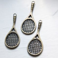 Base Metal Charms-Tennis Racket 49x19mm (9080Y)
