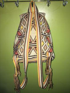 Mochila backpack Tapestry Bag, Tapestry Crochet, Knit Crochet, Crochet Handbags, Crochet Purses, Crochet Backpack Pattern, Tribal Patterns, Backpack Bags, Crochet Projects