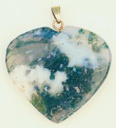 Metaphysical Gifts, Cards, Wrap and Crystals | Life Is A Gift Shop - Moss Agate Heart Pendant for Mysticism that goes beyond mere wealth., $16.00 (http://lifeisagiftshop.com/moss-agate-heart-pendant-for-mysticism-that-goes-beyond-mere-wealth/)