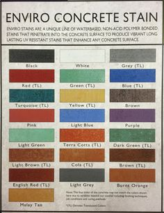 Acid Stained Concrete, Stains, Surface, Black And White, Color, Products, Black N White, Black White, Colour