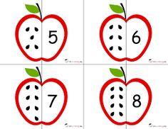 Resultado de imagen para okul öncesi sayı eşleştirme kartları