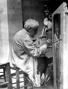 William Bouguereau, photographié à son chevalet