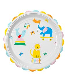 Look what I found on #zulily! Silly Circus Large Plate - Set of 24 by Meri Meri #zulilyfinds