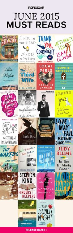 Book-lovers have plenty of reasons to be excited! Along with brand-new books by bestselling authors like Judy Blume, Stephen King, and Sophie Kinsella, there are also several celebrity-penned titles hitting shelves in June. Check out our POPSUGAR June must reads for new titles to add to your reading list!
