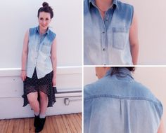 I am so doing this to the denim shirt I was just gifted. :3