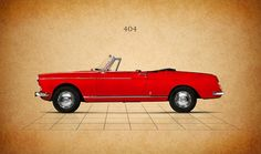Peugeot 404 Print by Mark Rogan