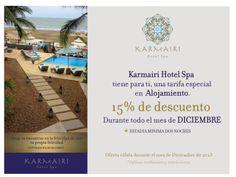 """""""Karmairi Hotel Spa tiene para ti, una tarifa especial en Alojamiento"""""""