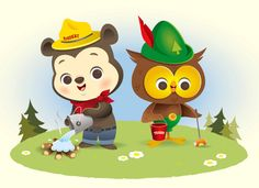 Smokey the Bear and Woodsy the Owl