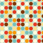dots, could use color in pointillist fashion to form img when seen from further away, but remain abstract cu