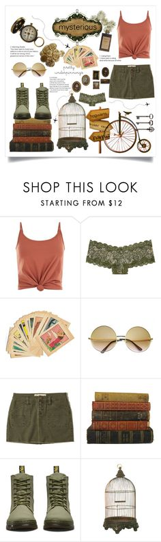 """misterious earth"" by cubukkrakker ❤ liked on Polyvore featuring Noisy May, Victoria's Secret, ZeroUV, Hollister Co., Dr. Martens and Ballard Designs"