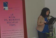 Amparo Flox, familiar de la asociación ASPADES-LA LAGUNA, fue la maestra de ceremonias durante todo el acto.