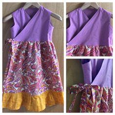 Boho/Hippie Wrap Dress, girls size 8 by SewMeems on Etsy