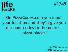 On PizzaCodes.com you input your location & they'll give you discount codes to the nearest pizza places!