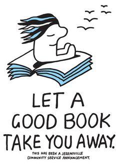 Jeremyville Corner Store — Let A Good Book Take You Away