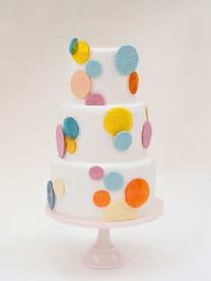 simple yet fun colourful cake