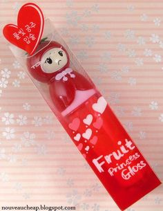 kinda ridiculous how bad i want this lip gloss - Tony Moly Fruit Princess Gloss in Strawberry