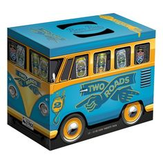 Two Roads Brewing launches The Two Roads Beer Bus variety pack featuring Ol'Factory Pils, Honeyspot Road White IPA, Lil Heaven Session IPA and a seasonal.