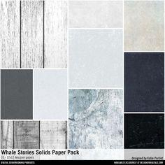 Whale Stories Solids Paper Pack textured cardstock solids for instant download #designerdigitals