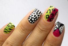 Miss Phibes + 80s #nail #nails #nailart