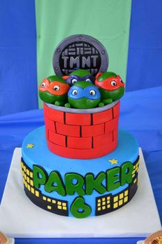 Teenage Mutant Ninja Turtles Birthday Party Ideas | Photo 15 of 37 | Catch My Party