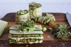 lasagne rezept vegan roh zucchini kresse nüsse