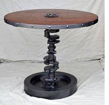 Steampunk Table Modern Industrial Metal Art Welded Gear Cog Sprocket Machine Age