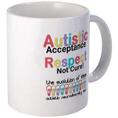 Autistic Acceptance #Mugs   #Autism #ASD #Aspergers #Neurodiversity #AutisticAcceptance