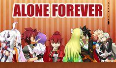 XD Hahaha Elsword x Aisha Rena x Raven (Wen wer den Anime kennt ist er Dumm.)
