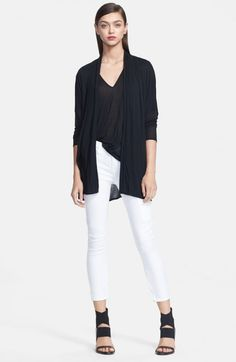 Helmut Lang Jersey Cardigan Black | Sweater and Clothing