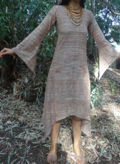 Long Sleeves Fairy Dress - Khadi Cotton- different colors :)