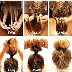 Step By Step Braided Bun