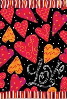 BreezeArt Love Hearts Garten Flagge 31085Krümmer: Amazon.de: Garten