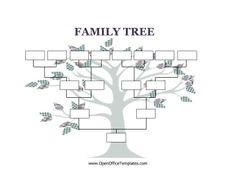 Decorated With A Cute, Craft Tree, This Printable Family Tree Has Four  Generation Boxes