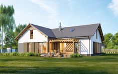 DOM.PL™ - Projekt domu ED E-248 CE - DOM ED2-55 - gotowy koszt budowy Home Fashion, Pergola, Cabin, House Styles, Home Decor, Homemade Home Decor, Outdoor Pergola, Interior Design, Cottage