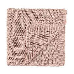 Chain Knit Throw - Pink
