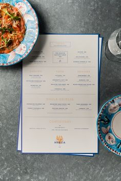 restaurant menu osteria marzia - A Work of Substance Restaurant Branding, Carta Restaurant, Restaurant Menu Design, Food Branding, Identity Branding, Web Design, Book Design, Layout Design, Print Design