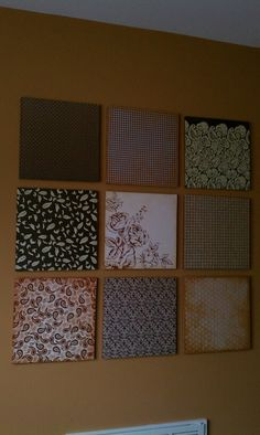 scrapbook paper mounted with Mod Podge on wood panels. So easy! Art Crafts, Diy And Crafts, Arts And Crafts, Mod Podge On Wood, 12x12 Scrapbook Paper, Decorating Ideas, Craft Ideas, Crafts Beautiful, Pinterest Projects