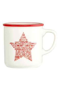 Porcelánový hrnček Gingerbread Reindeer, H&m Home, Porcelain Mugs, H&m Online, Bright Stars, Jingle Bells, Red Christmas, Candy Cane, Red And White