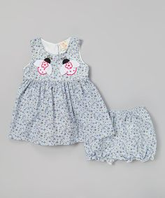 Another great find on #zulily! Blue Ladybug Dress & Bloomers - Infant & Toddler by sissymini #zulilyfinds