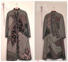Cinderella Patch: [Koos van den Akker's influence on the Street] Coat Patterns, Clothing Patterns, Quilted Clothes, Knitted Coat, How To Make Clothes, Russian Fashion, Gossip Girl, Quilted Jacket, Refashion